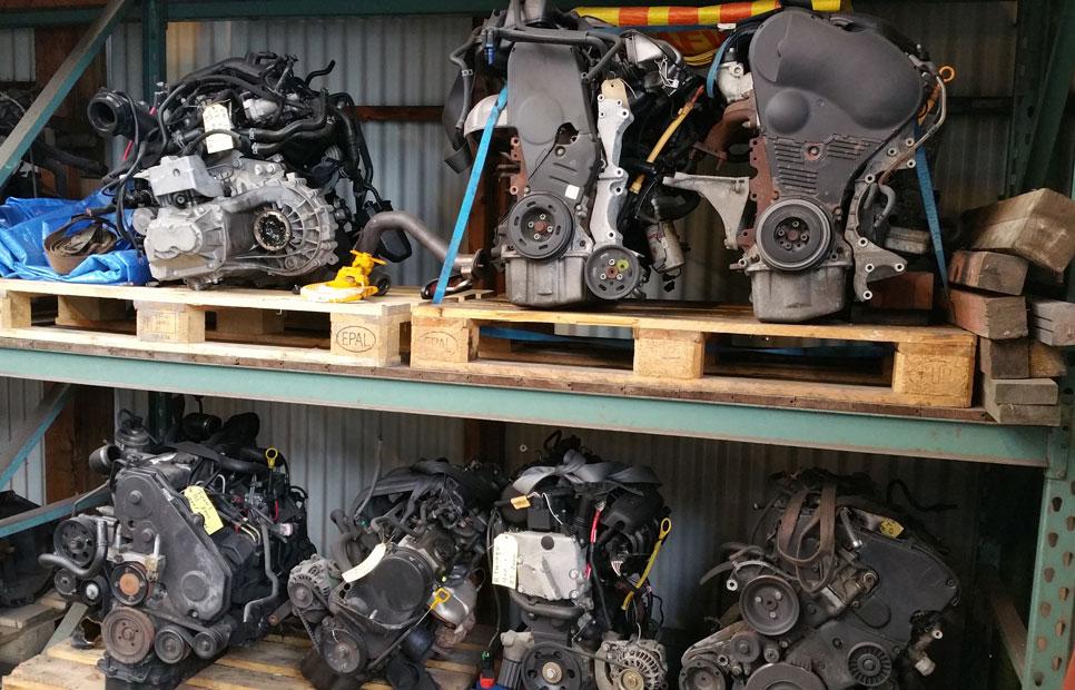 auto onderdelen motor blok vervangen sloop