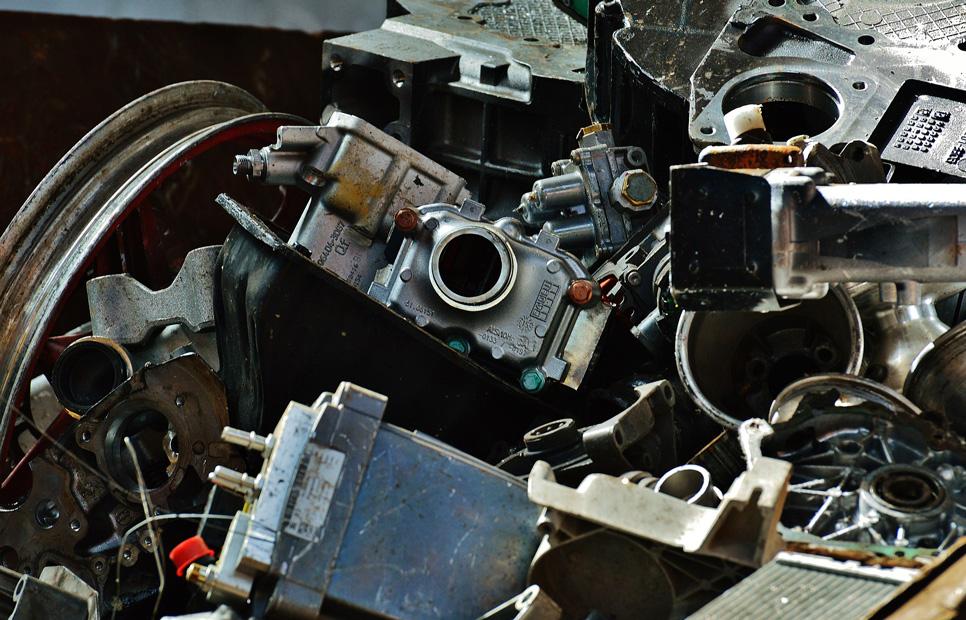 oude metalen schroot recycle