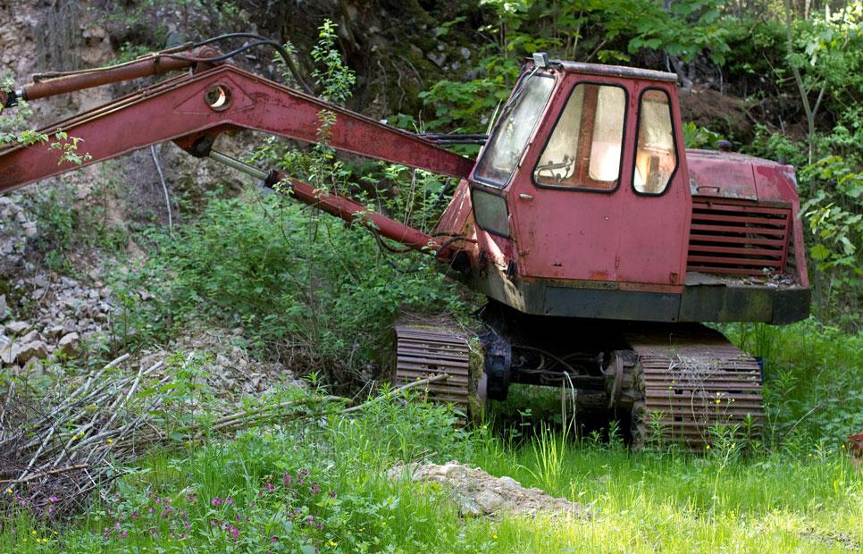 Recycling heftrucks kranen tractors graafmachines hoogwerkers