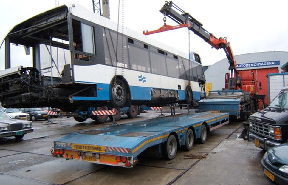 Recycling stadsbussen vrachtwagens